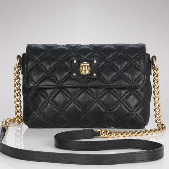 73% off Marc Jacobs Handbags - Marc Jacobs Black Leather Quilted ... : marc jacobs black quilted bag - Adamdwight.com